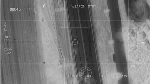 Infrared War Helicopter Car Hit stock footage