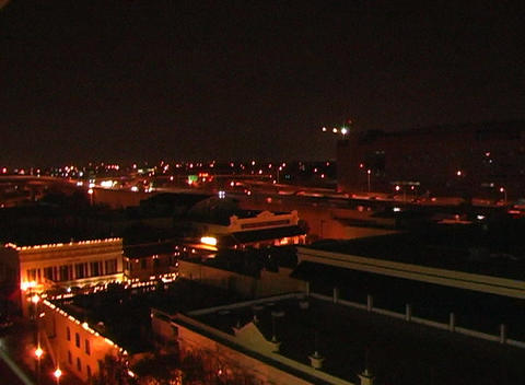 City At Night (1) stock footage