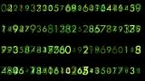 Matrix Numbers stock footage