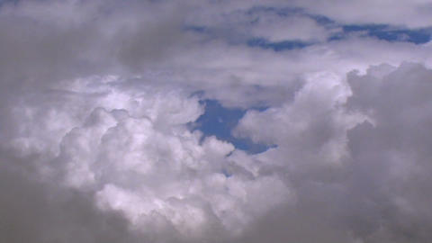 Fly Through Clouds Slow stock footage