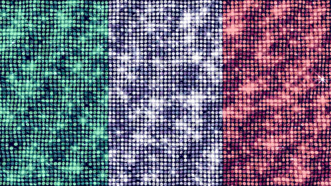 Spangle Flag Italy stock footage