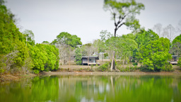 【Nature】Lake Side House_TL stock footage