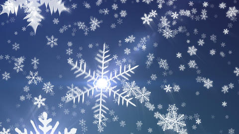 Snowy1 - New Edition - Snow / Christmas Video Back stock footage