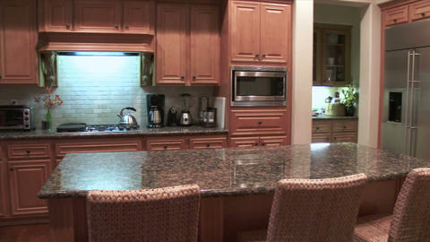 Modern Kitchen stock footage