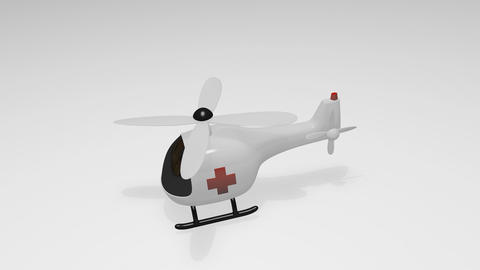 Medical helicopter Animation