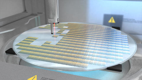 Silicon Wafer stock footage
