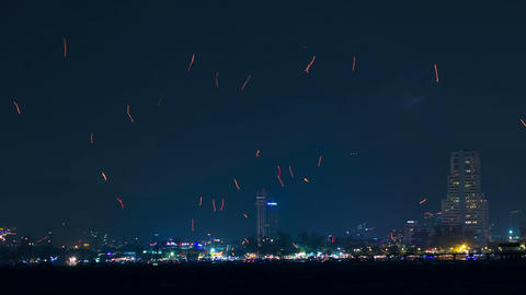 Time Lapse New Firework Patong stock footage