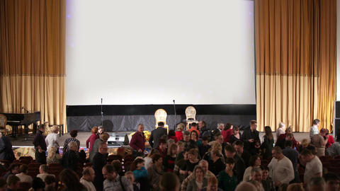 Audience leaving the auditorium Footage
