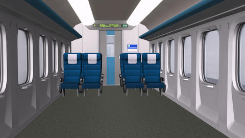 Train Interior,aircraft Cabin Interior.Close-up Of Modern Train stock footage