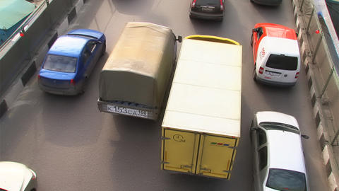 traffic on Moscow rush hour Footage