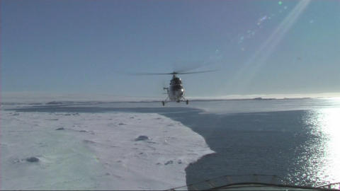 Helicopter Landing stock footage