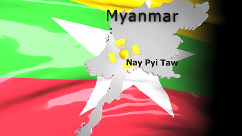 Crisis Map Myanmar stock footage