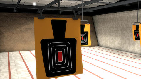 Indoor Shooting Range stock footage