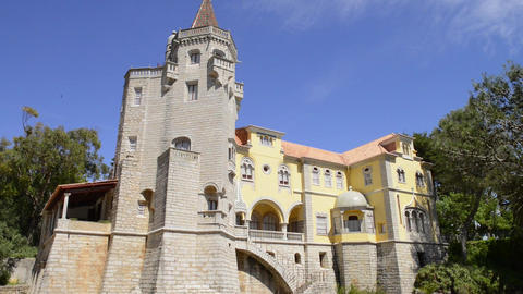 Municipal Museum In Cascais stock footage