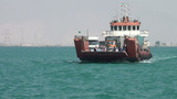 Cargo ferry on Persian Gulf, Iran Footage