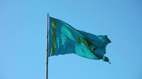 Flag of Kazakhstan Footage