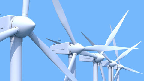Wind generators CG動画素材