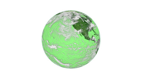 Green Spinning Planet Earth stock footage
