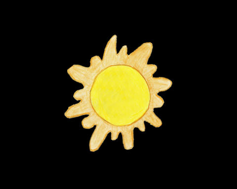 drawing sun rotate Animation