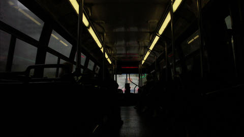 Timelapse Bus Interior stock footage