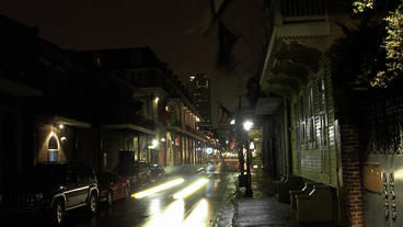 Timelapse French Quarters Sidewalk stock footage