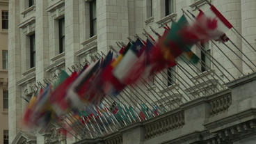 Timelapse International Flags stock footage