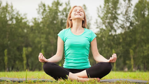 In A Yoga Pose stock footage