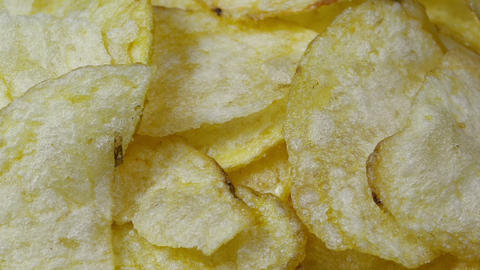 Fresh Potato Chips stock footage