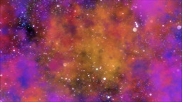 Space Travel Through Star Field/Nebula - Loop stock footage