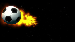 Fiery Soccer Ball On Space Background stock footage