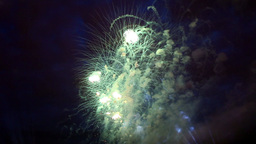 Fiery Bunch Celebratory Fireworks stock footage