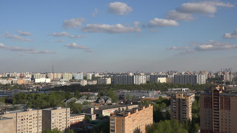 4k Panorama Of Moscow stock footage