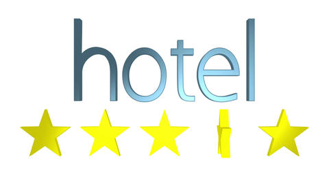 Five Star Quality Hotel stock footage
