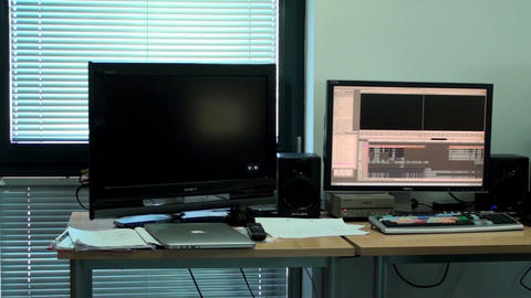 Video Editing Office, Slow Pan, New, Media, Techno stock footage