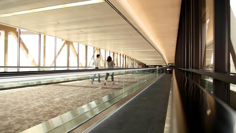 Airport Walkway stock footage