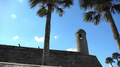 St. Augustine Fort Detail stock footage