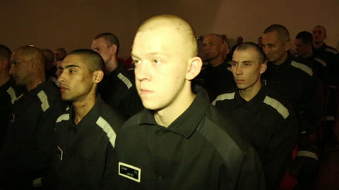 Convicted in the auditorium of the prison of the c Footage