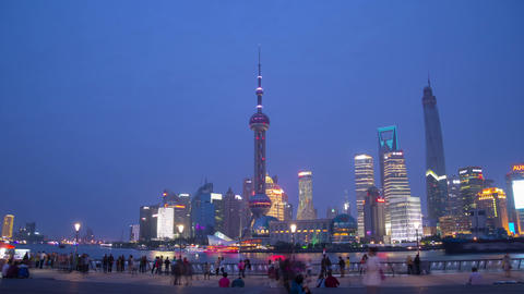 Sunset In Shanghai Hyperlapse stock footage