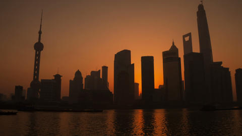 Sunrise In Shanghai Timelapse stock footage