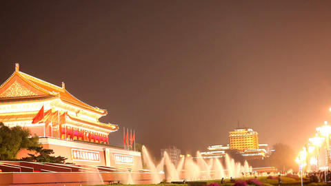 Tiananmen Fountain Footage