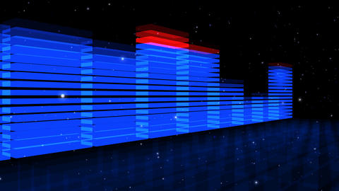 Audio Lights 3D Rotating stock footage