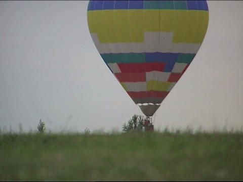 Landing Balloon stock footage