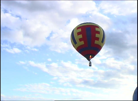 Hot Air Balloon In The Sky stock footage