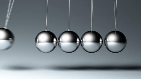 Newton's Cradle stock footage