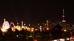Toronto Skyline Carnival Time-Lapse stock footage