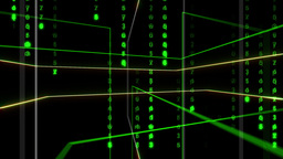 Line And Matrix Animation stock footage