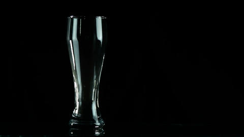Bottle And Glass stock footage