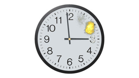 Exploding Clock Time Lapse stock footage