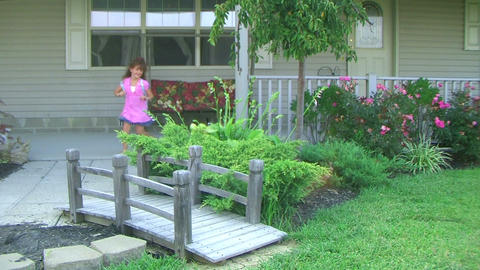 Little Girl Leaving For School stock footage