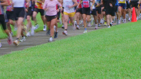 Runners Starting Race Footage